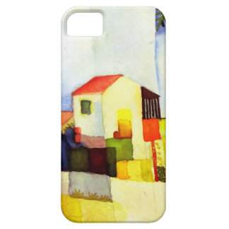 August Macke Bright House Watercolor Painting iPhone SE/5/5s Case