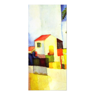 August Macke Bright House Watercolor Painting Magnetic Card