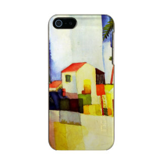 August Macke Bright House Watercolor Painting Metallic iPhone SE/5/5s Case