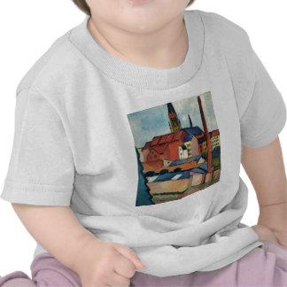 August Macke - casas de Bonn y aceite de la Camisetas
