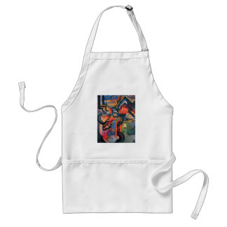 August Macke - Color Composition Ode to Bach 1912 Adult Apron