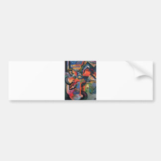 August Macke - Color Composition Ode to Bach 1912 Bumper Sticker