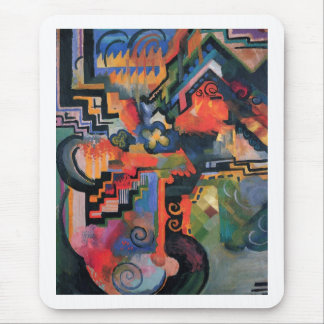 August Macke - Color Composition Ode to Bach 1912 Mouse Pad