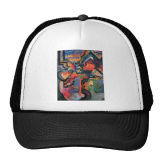 August Macke - Color Composition Ode to Bach 1912 Trucker Hat