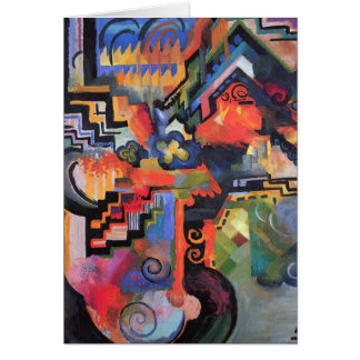 August Macke - Colored Composition Card