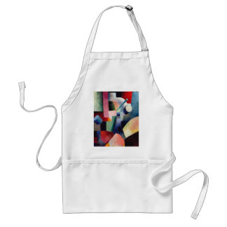 August Macke - Colored Composition of Forms Adult Apron
