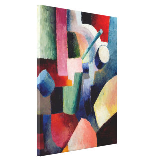 August Macke - Colored Composition of Forms Canvas Prints