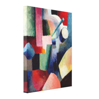 August Macke - Colored Composition of Forms Gallery Wrap Canvas