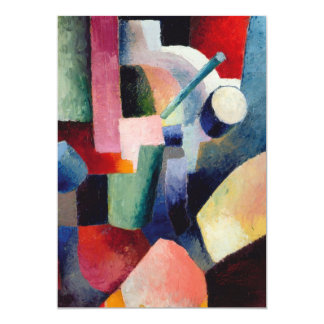 August Macke - Colored Composition of Forms Card