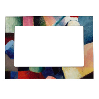 August Macke - Colored Composition of Forms Magnetic Photo Frames