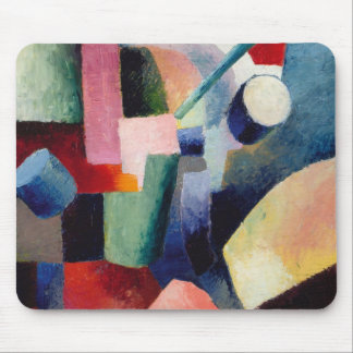 August Macke - Colored Composition of Forms Mouse Pad