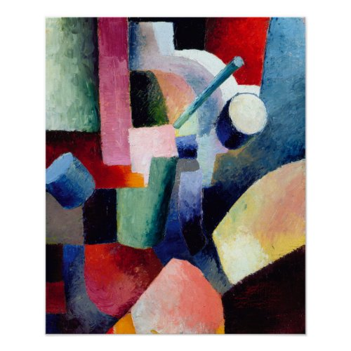 August Macke Colored Composition of Forms Poster