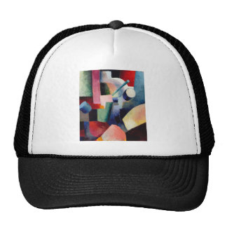 August Macke - Colored Composition of Forms Trucker Hat