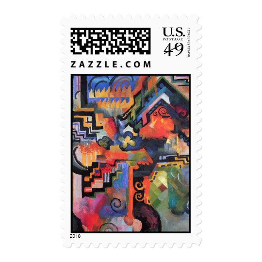 August Macke - Colored Composition Postage