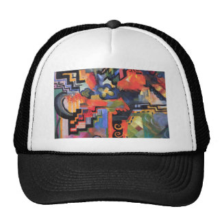 August Macke - Colored Composition Trucker Hat