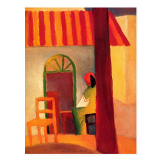 August Macke Colorful Postcard
