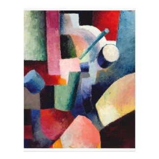 August Macke - composición coloreada de formas Tarjetas Informativas