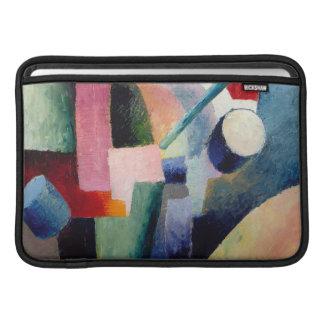 August Macke - composición coloreada de formas Funda Para Macbook Air