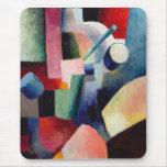 August Macke - composición coloreada de formas Alfombrilla De Ratones