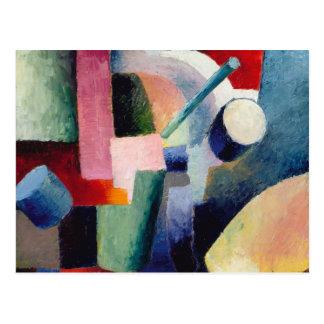 August Macke - composición coloreada de formas Tarjeta Postal