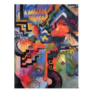 August Macke - composición coloreada Tarjeta Postal