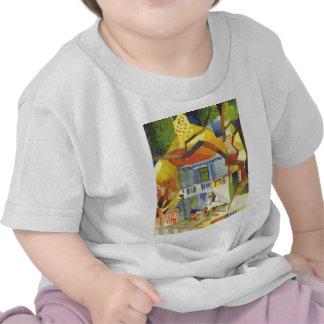 August Macke - corte interna de la casa de campo Camiseta