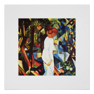 "August Macke. ""Couple in the Woods""  Art Print"