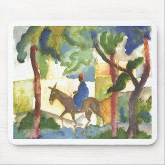 August Macke - Donkey Rider 1914 Eselreiter Mouse Pad