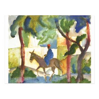 August Macke - Donkey Rider 1914 Eselreiter Postcard