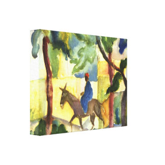 August Macke - Donkey Rider Gallery Wrapped Canvas