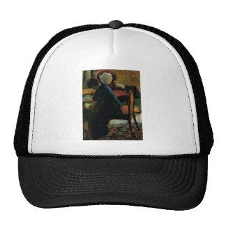 August Macke - Elizabeth at Desk 1909 Oil on Wood Trucker Hat