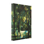 August Macke - Evening Stretched Canvas Print