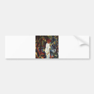 August Macke - Few in the Forest 1912 Canvas Bumper Stickers