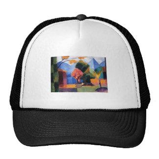 August Macke - Garden at Thuner Lake 1913 oil Trucker Hat
