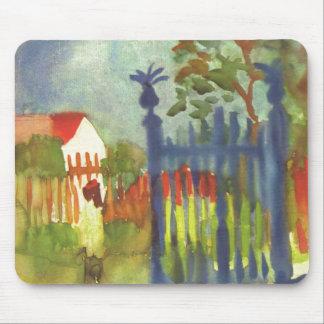 August Macke - Garden Gate 1914 Gartentor Mouse Pad