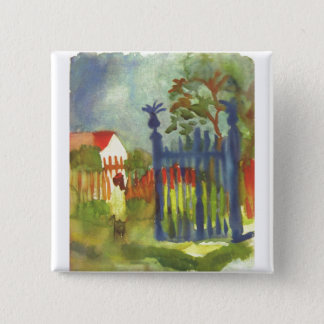 August Macke - Garden Gate 1914 Gartentor Pinback Button