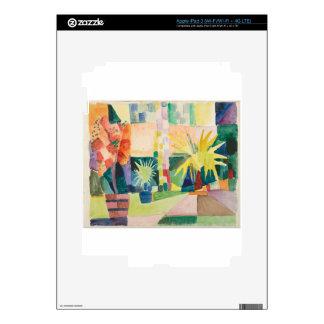 August Macke - Garden on Lake Thun Skin For iPad 3