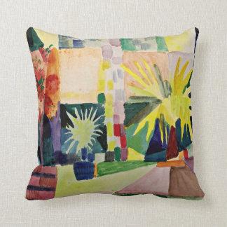 August Macke: Garden on Lake Thun Throw Pillow