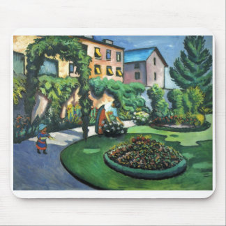 August Macke - Garden Picture 1911 oil on canvas Mouse Pad