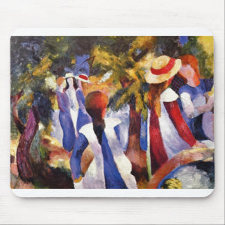 August Macke - Girl in the Country 1914 Canvas Mouse Pad