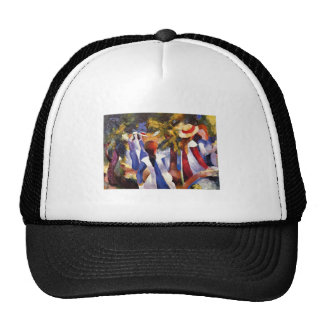 August Macke - Girl in the Country 1914 Canvas Trucker Hat