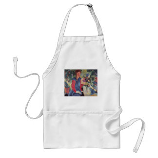 August Macke  - Girl w/ Fish Bell 1914 Fischglocke Adult Apron