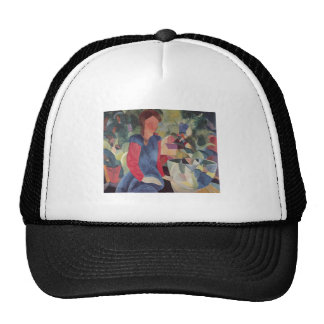 August Macke  - Girl w/ Fish Bell 1914 Fischglocke Trucker Hat