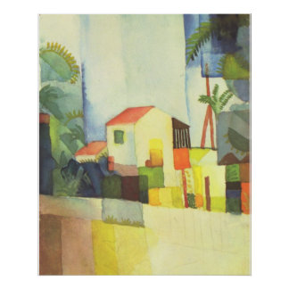 August Macke - Helles Haus 1914 Bright House Poster