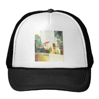 August Macke - Helles Haus 1914 Bright House Trucker Hat