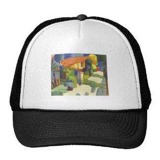 August Macke - House in Garden 1914 Waterolor Trucker Hat