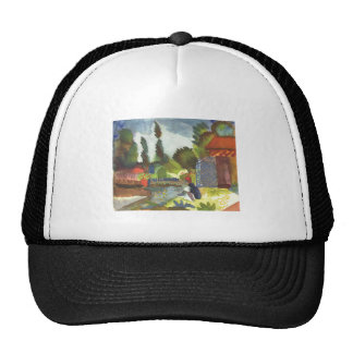 August Macke - Iceland Shank w/ sitting Arab 1914 Trucker Hat