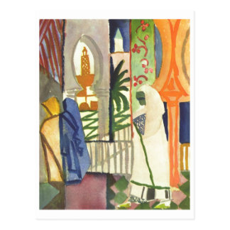 August Macke - In Temple Resounds 1910-1914 Postcard