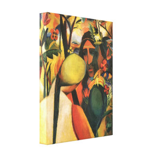 August Macke - Indians Canvas Print