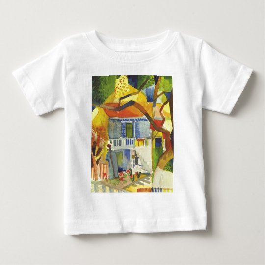 August Macke - Inner Court of Country House 1914 Baby T-Shirt